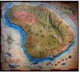 Old Map of Lanai Island