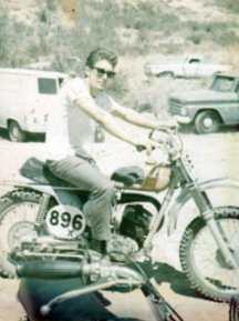 Buck  on Husky 500 motorclycle